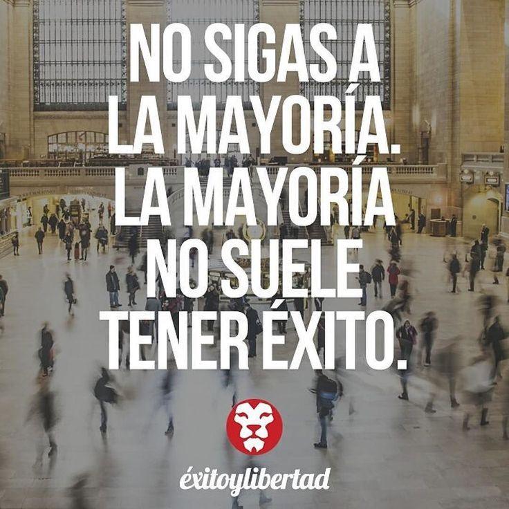 #Repost @exitoylibertad  Crea un camino adaptado a ti que te haga feliz y no te dejes llevar por la inercia de la mayoría. #exitoylibertad