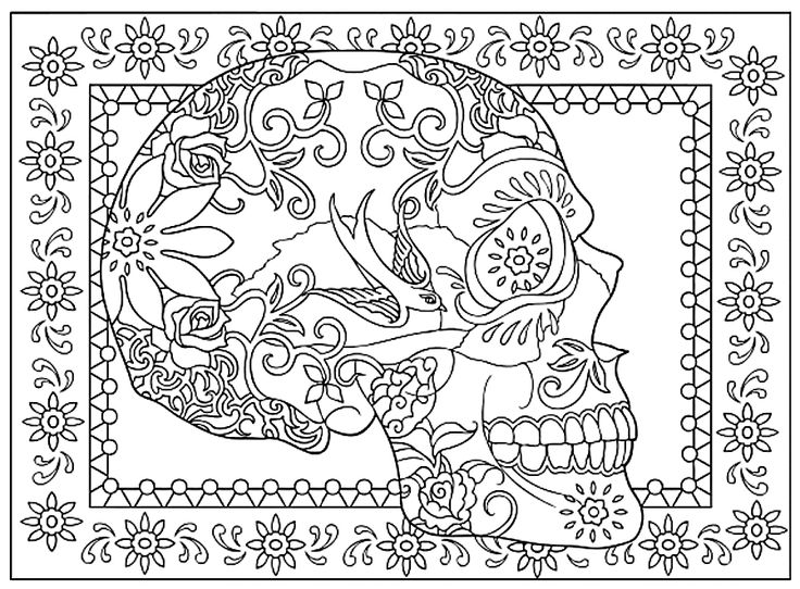 creative haven day of the dead coloring book dover publications - Day Of The Dead Coloring Book