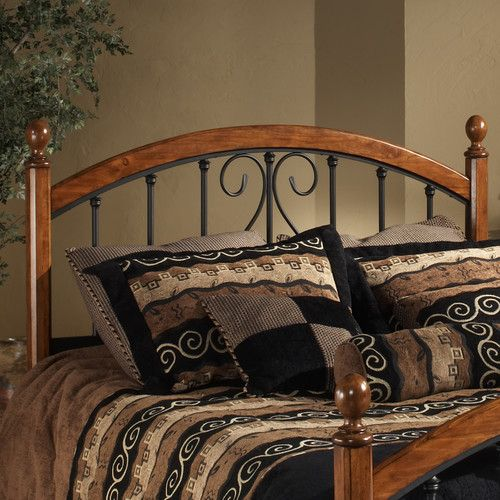 Features:  -Includes headboard grill and posts.  -Features 2 holes to screw it into a standard headboard frame (hardware not included).  -Textured black powder-coated finish.  -Burton Way collection.