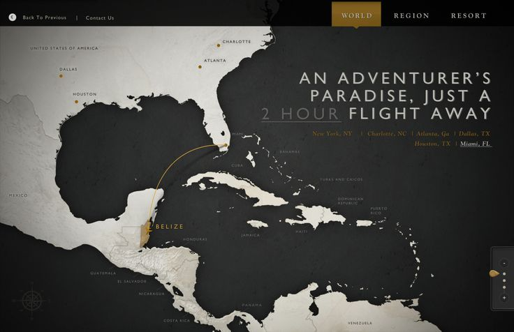 Css & jQuery interactive travel map for Ka'ana Resort in Belize. Features…