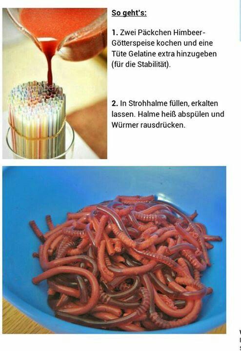 Regenwormen om op te eten