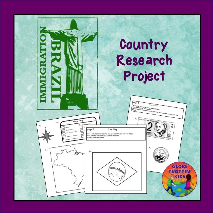 Students create a notebook as they research Brazil's geography and culture.  https://www.teacherspayteachers.com/Product/Brazil-Research-Project-1498740