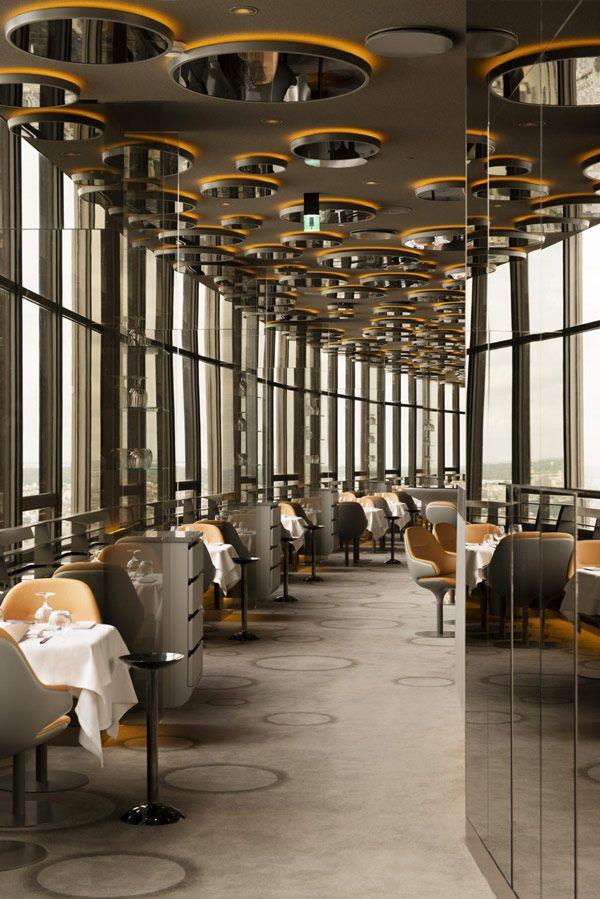 Located On The Floor Of The Famous Montparnasse Tower, Restaurant Ciel De  Paris Designed By Noe Duchaufour Lawrance. Photo Gallery