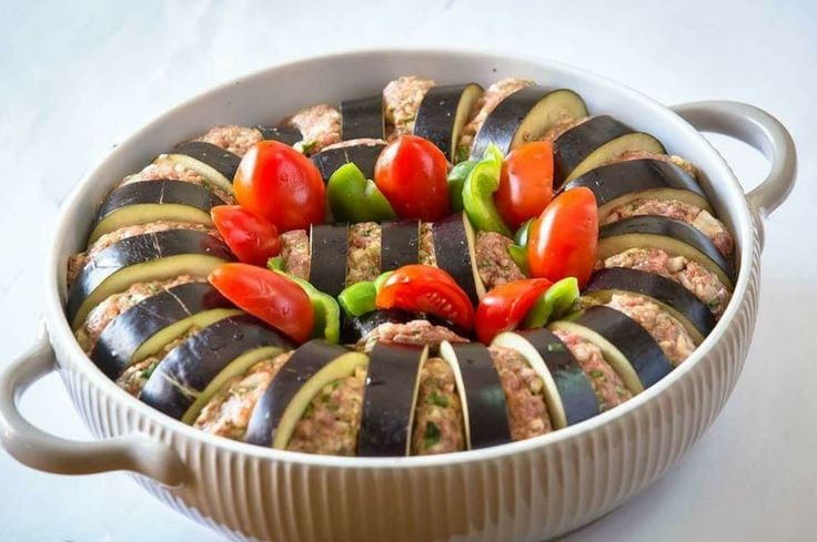 Eggplant and meat