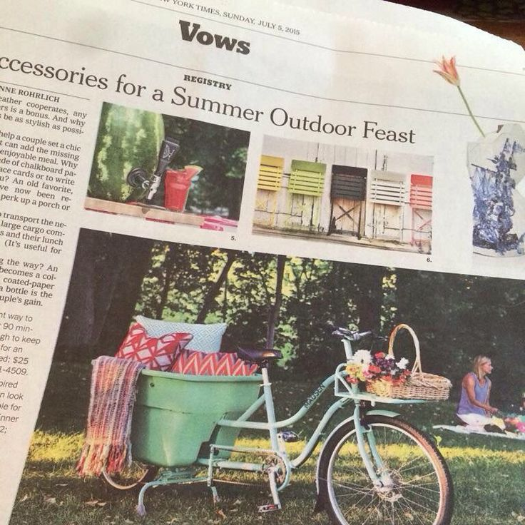 """MADSEN Cycles on Instagram: """"If you happen to pick up the NY Times today...you may find MADSEN in there!  click on link in profile to see the article. #madsencycles #nytimes #madsenbike #outdoorexcursions #hipandhumble #picnic #sundaystyles #sunday #bucketbike #summer #outdoorfeast"""""""