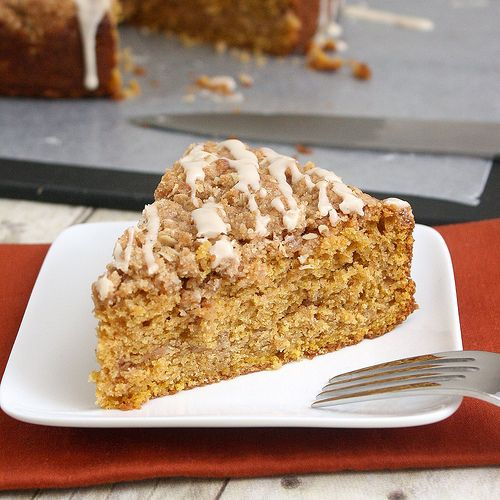 Pumpkin streusel coffee cakeDesserts Recipe, Coffe Cakebest, Coffee Cakes, Pumpkin Streusel, Pumpkin Recipe, Breakfast, Fall Recipe, Coffee Cake Best, Streusel Coffee