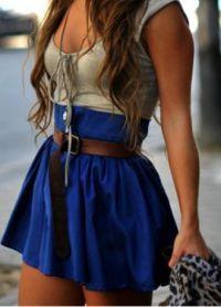 Расклешенные юбки с завышенной талией 6