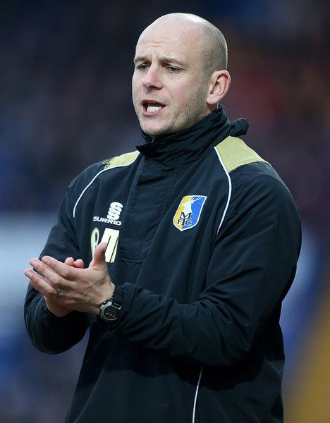 Adam Murray Photos Photos - Mansfield Town manager Adam Murray looks on during the Sky Bet League Two match between Mansfield Town and Northampton Town at One Call Stadium on February 14, 2015 in Mansfield, England. - Mansfield Town v Northampton Town - Sky Bet League Two