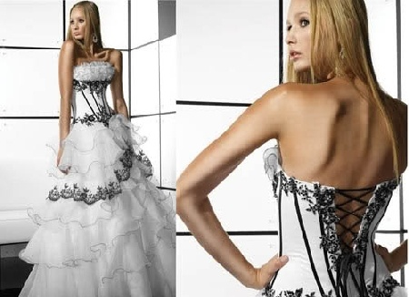 white corset prom dress