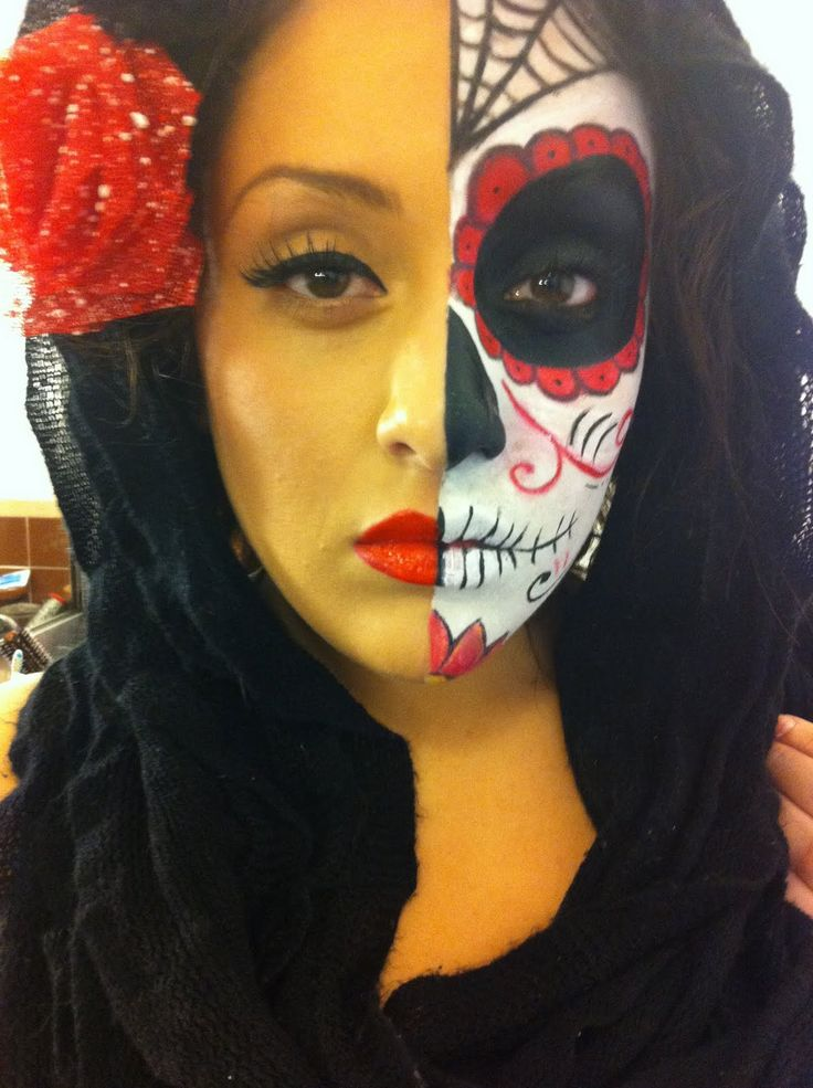47 Best Day Of The Dead Face Painting Images On Pinterest | Make Up Looks Mexican Skulls And ...
