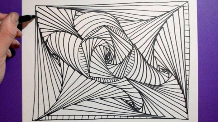 1001 Ideas De Dibujos Abstractos Que Inspiran Dibujos Abstractos Patrones De Garabatos Dibujos Faciles Y Divertidos