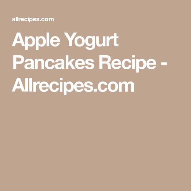 Apple Yogurt Pancakes Recipe - Allrecipes.com