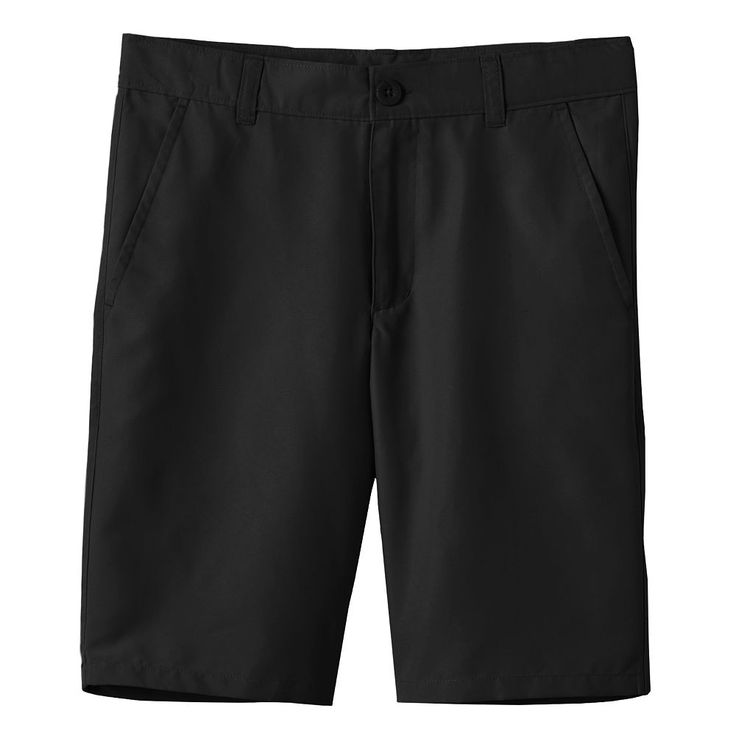 Boys 4-20 Chaps School Uniform Performance Shorts, Size: 14, Black