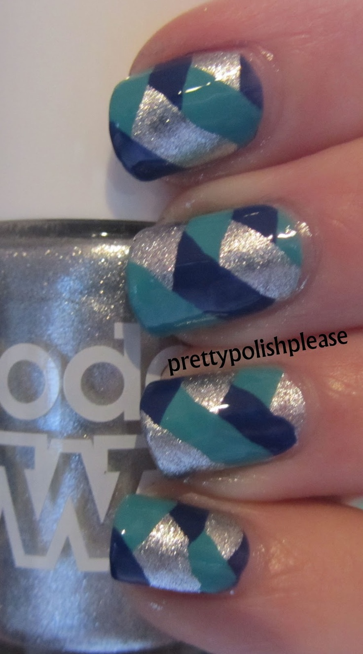 PrettyPolishPlease: Fishtail Braid Nails with Models Own