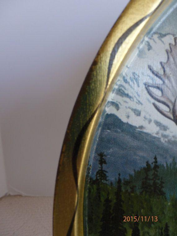 James Artig Wildlife Tray. Moose Wildlife Tray
