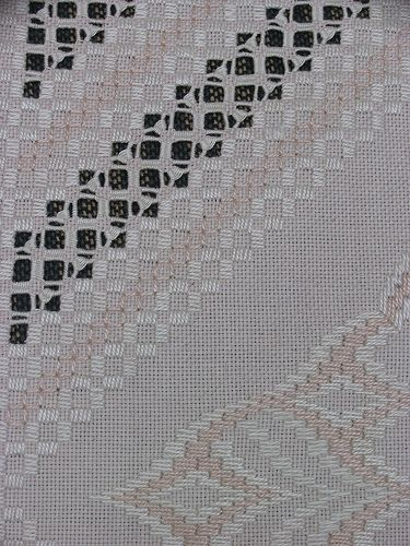 Detail of bargello and hardanger
