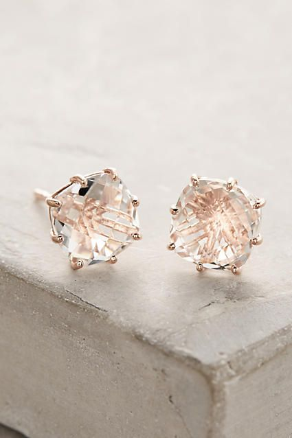 Suzanne Kalan 14k Gold White Topaz Earrings