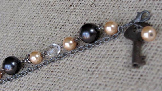 Antique Key Bracelet by AmarisJewelry on Etsy, $12.00