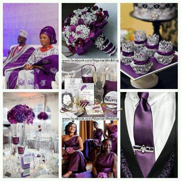 63 best nigerian wedding color schemes themes images on pinterest color palettes color - Purple and silver color scheme ...