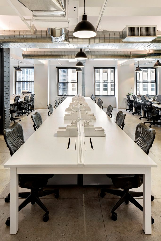 terrific contemporary office design ideas | Open offices at Nike Communications Offices - New York ...