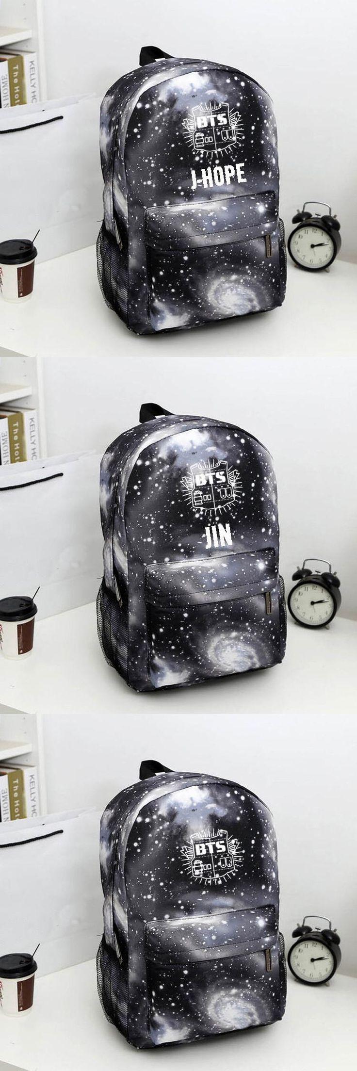[Visit to Buy] Bangtan Boys BTS  backpack,korean kpop stars school bag , boys girls canvas book laptop satchel  ,V,Rap Monster,JIN,SUGA #Advertisement