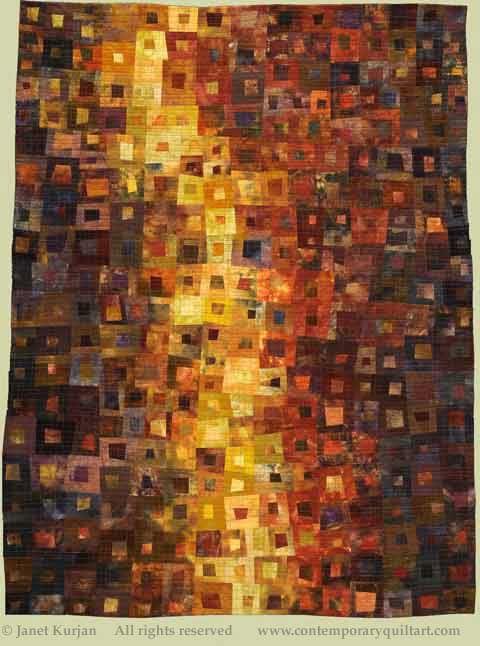 """Image of """"River of Light"""" quilt by Janet Kurjan..Very Klimt-like!"""