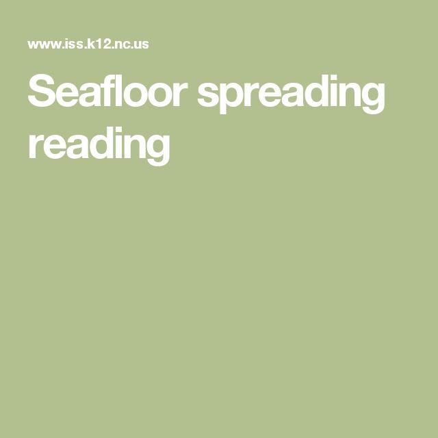 Seafloor spreading reading