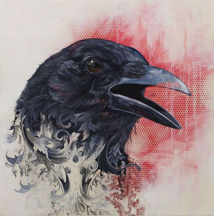 Raven tattoo design • Visit artskillus.ru for more tattoo ideas
