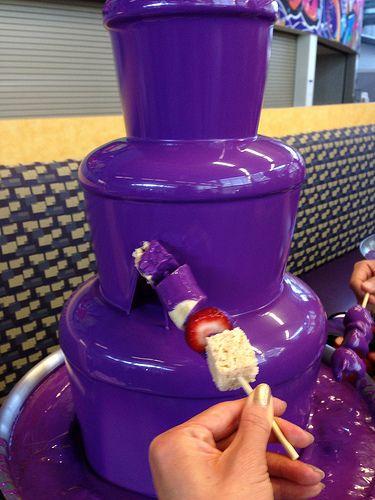 Yahoo's Purple Chocolate Fountain