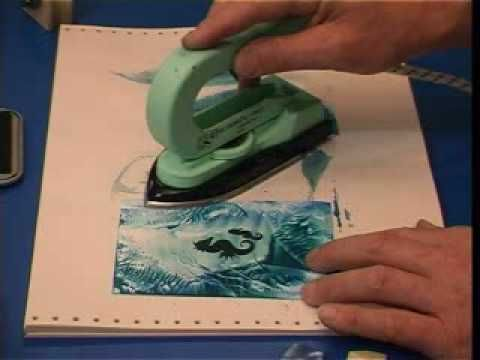 encaustic mono printing with Maria Arvayo - YouTube