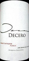 2010 Finca Decero Cabernet Sauvignon Remolinos Vineyard, Argentina, Mendoza, Lujan de Cuyo, Agrelo - CellarTracker