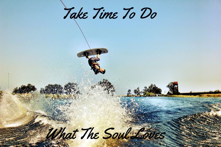 Wakeboarding is happiness for the soul!