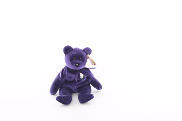 Ty Beanie baby bean bag plush stuffed animal Princess blue teddy bear