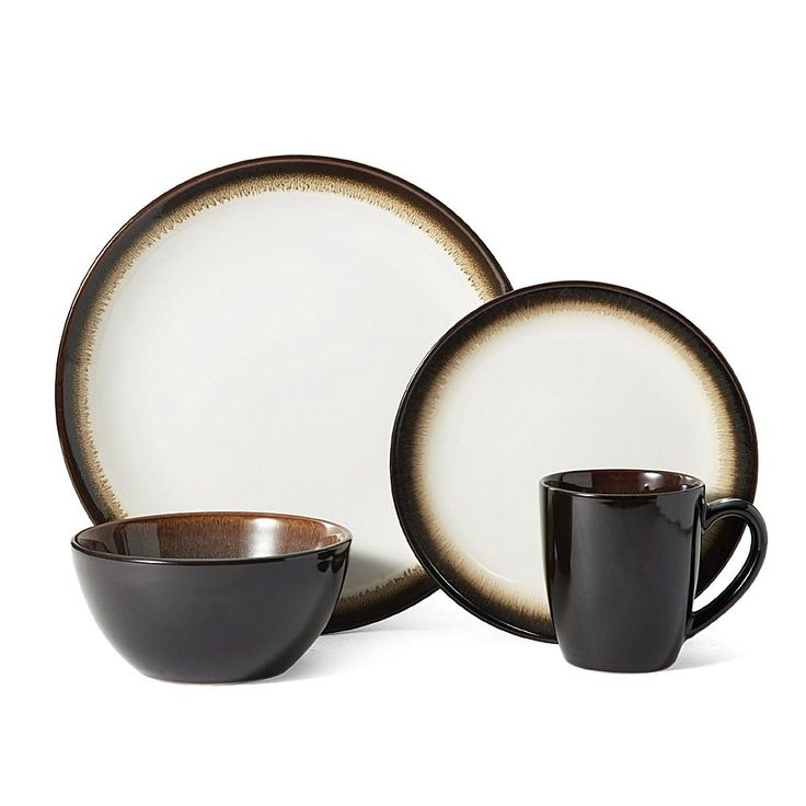 Lifetime Brands Pfaltzgraff 16-piece Lunar Green Dinnerware Set