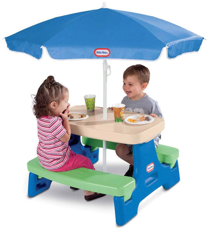 Kids Picnic Table Child Children Toddler Outdoor Play Plastic Backyard  Furniture Part 83