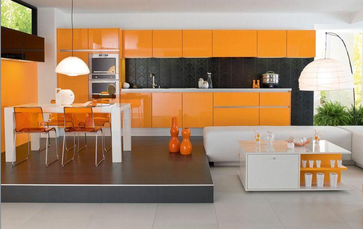 kitchen and dining orange
