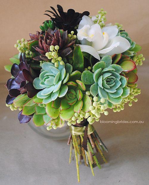 Succulent Bouquet by bloomingbrides  #Bouquet #Succulents