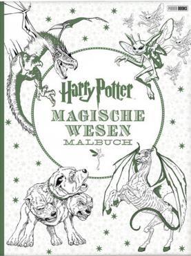 Harry Potter - Magische Wesen  - Malbuch - 96 Seiten - Softcover  Ob Hauselfen oder Hippogreife, dreiköpfige Hunde oder Drachen – die magische Welt von Harry Potter ist voller fantastischer Wesen und Tiere. So finden sich auch in diesem neuen, außergewöhnlichen Malbuch allerlei verrückte Kreaturen aus den Filmen rund um Schloss Hogwarts. Detailgetreue Illustrationen und Designs laden ein, die Zaubererwelt mit Farbe zu füllen und die Zentauren aus dem Verbotenen Wald, die Wassermenschen aus…