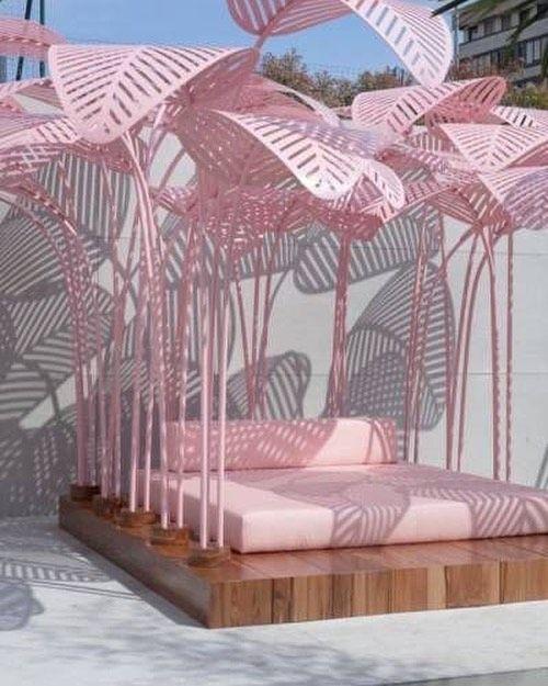 # Inspiration # Wintergärten # pinkitup # pink # Palmen # Interieur # Sonne # vakrehjemoginteriør # …   – Ute