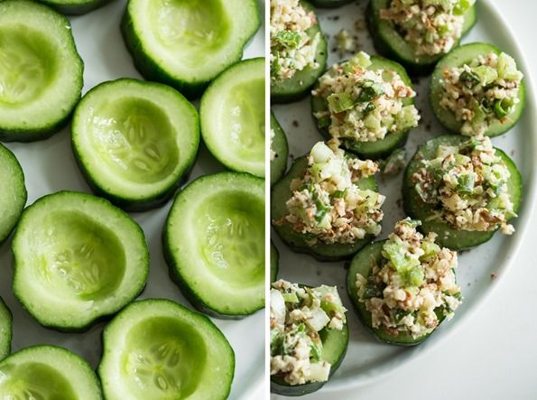 """My Favourite Lunch of the Moment: Easy Flaked Almond """"Tuna"""" Salad by OhSheGlows http://linkreaction.com.au/"""