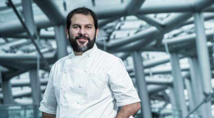 #MichelinStarred #Mexican chef #EnriqueOlvera has created a special menu that is being featured at #Ikarus restaurant in #Salzburg, #Austria - http://www.finedininglovers.com/blog/news-trends/enrique-olvera-guest-chef-ikarus/