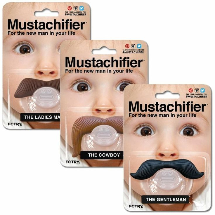 Chupeta divertida bigode mustache