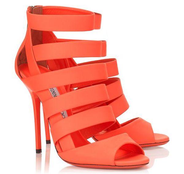 How to Wear Jimmy Choo Neon Sandals Like Toya Wright