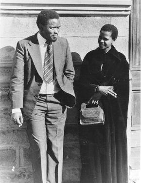 Steve Biko, with his comrade Mamphela Ramphele
