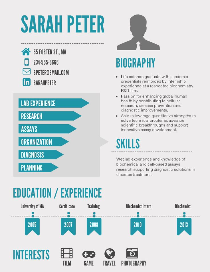 Best Visual Resume Images On   Page Layout Color
