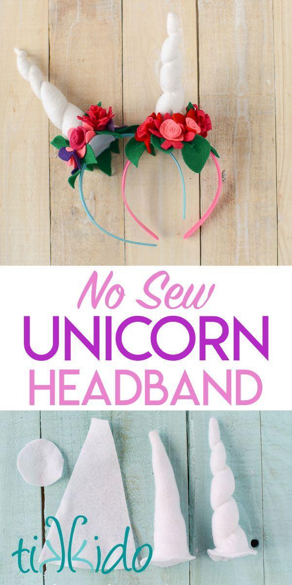 Unicorn Horn Headband Diy Unicorn Headband Felt Flowers Diy Diy Unicorn Horns