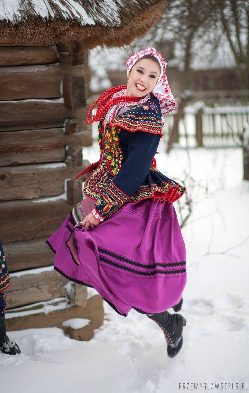 Strój Lachów Sądeckich / Traditional costume of Lachy Sądeckie ethnographic group, the region of Nowy Sącz, Małopolska, Poland