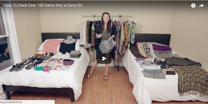 Δείτε αυτή τη γυναίκα να πακετάρει 100 αντικείμενα σε μία βαλίτσα  #Βίντεο