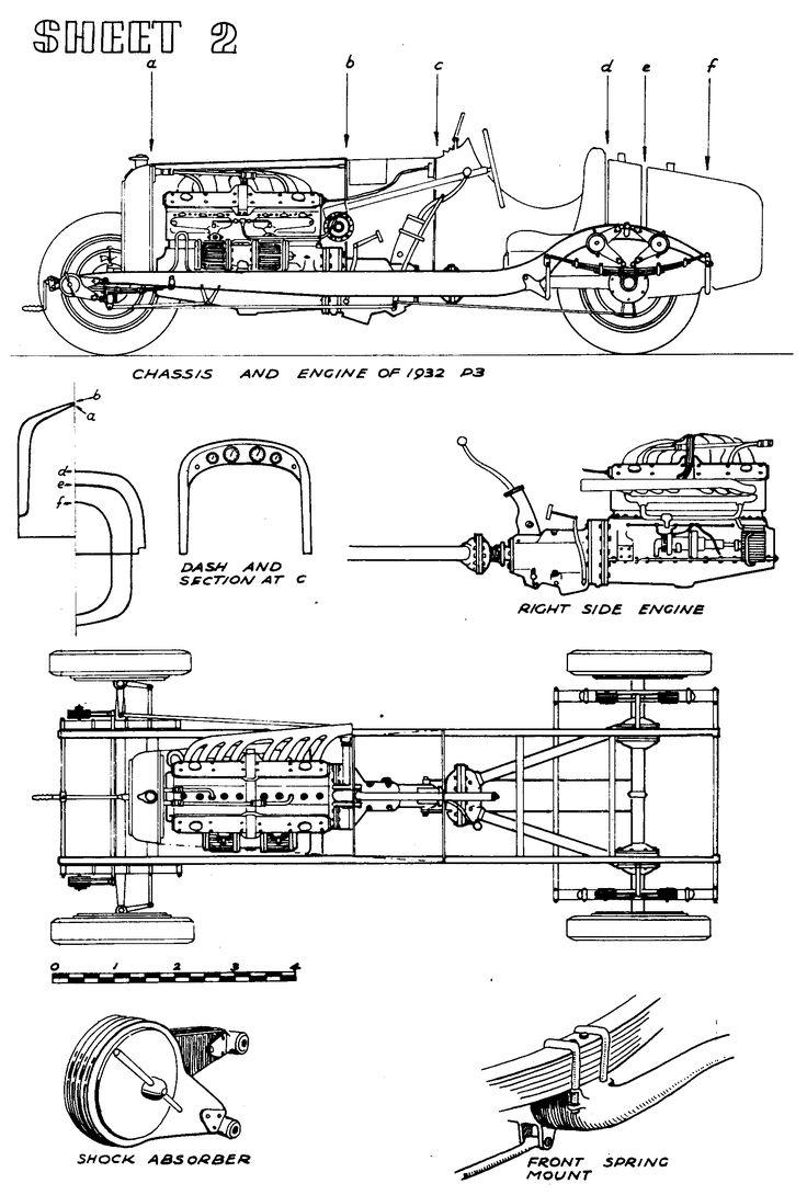Best Classic Cars Blueprint Images On Pinterest Pedal Cars