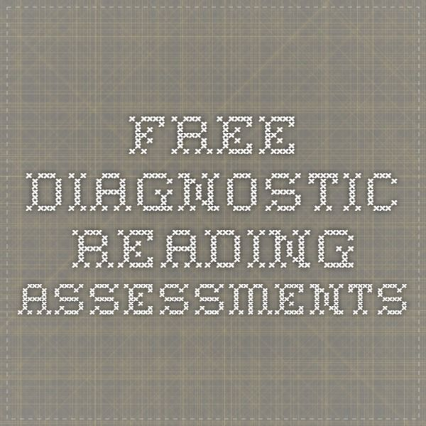 FREE diagnostic reading assessments